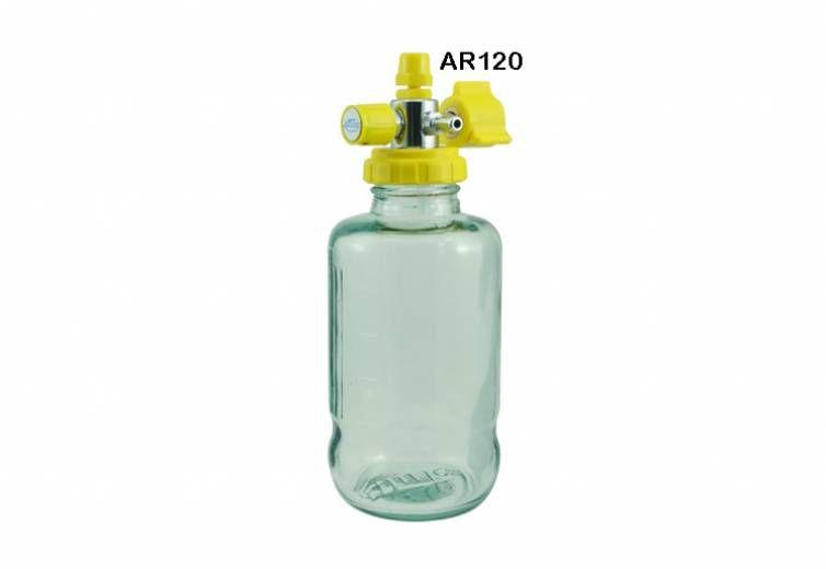 Aspirador Para Rede Canalizada De Ar Comprimido 500ml Vidro AR120 - Unitec