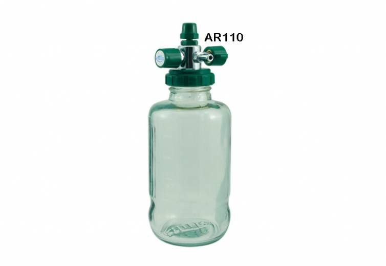 Aspirador Para Rede Canalizada De Oxigênio AR110 Vidro - Unitec