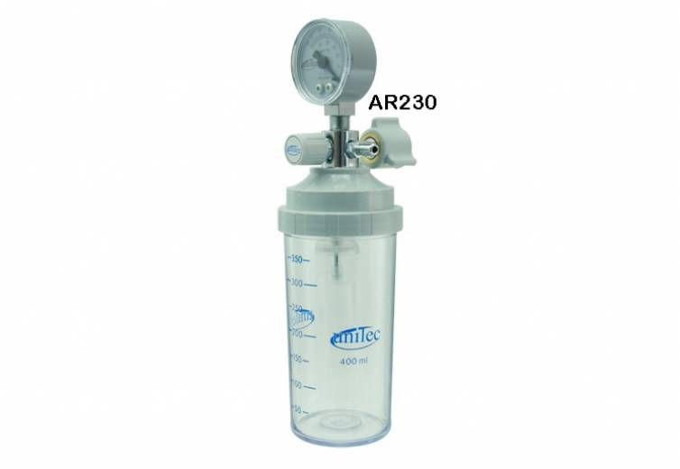 Aspirador Para Rede Canalizada De Vácuo (Vacuômetro) Policarbonato 400ml AR230 - Unitec