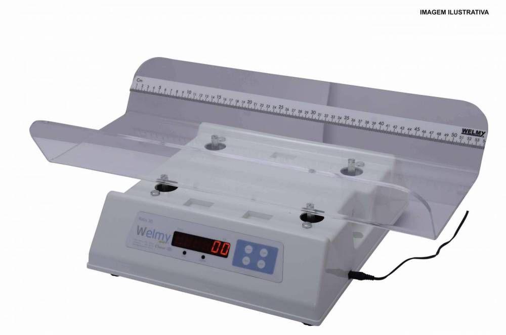 Balança Digital Antropométrica Pediátrica Com Concha em Acrílico 109-e - Welmy