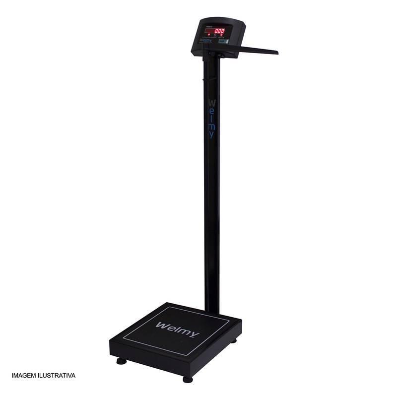 Balança Digital Antropométrica 200 Kg. Divisão 50 Gr. W200/50A Preta - Welmy