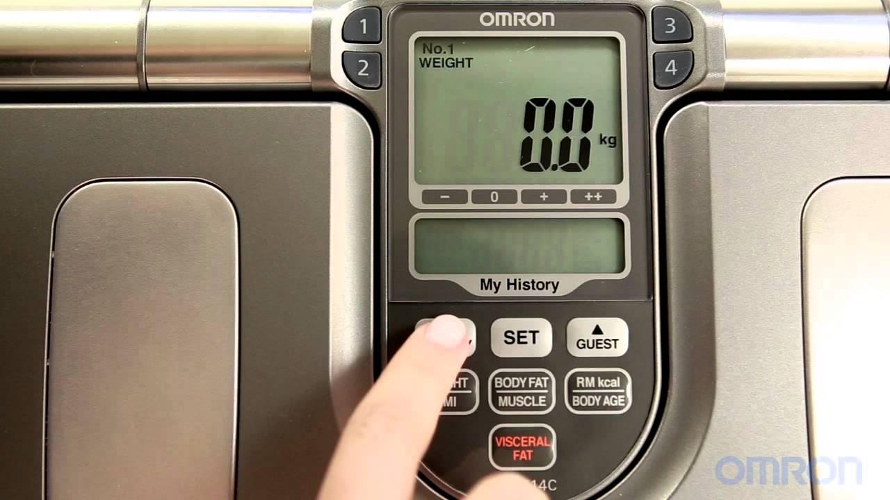 Balança Digital de Controle Corporal HBF-514C - Omron