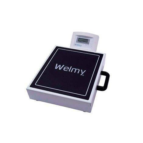 Balança Digital Portátil Capacidade 200 kilos divisão de 50 gramas com Bateria Recarregável visor em LCD W-200M - Welmy
