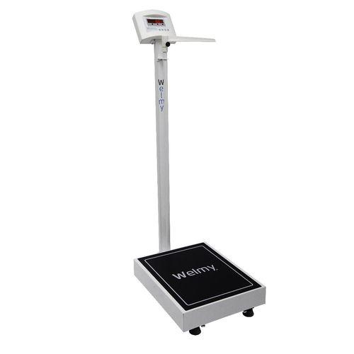 Balança Digital Antropométrica 300 Kilos Divisão 50 gramas Plataforma 40 x 50 cm Visor em LED W300A  - Welmy