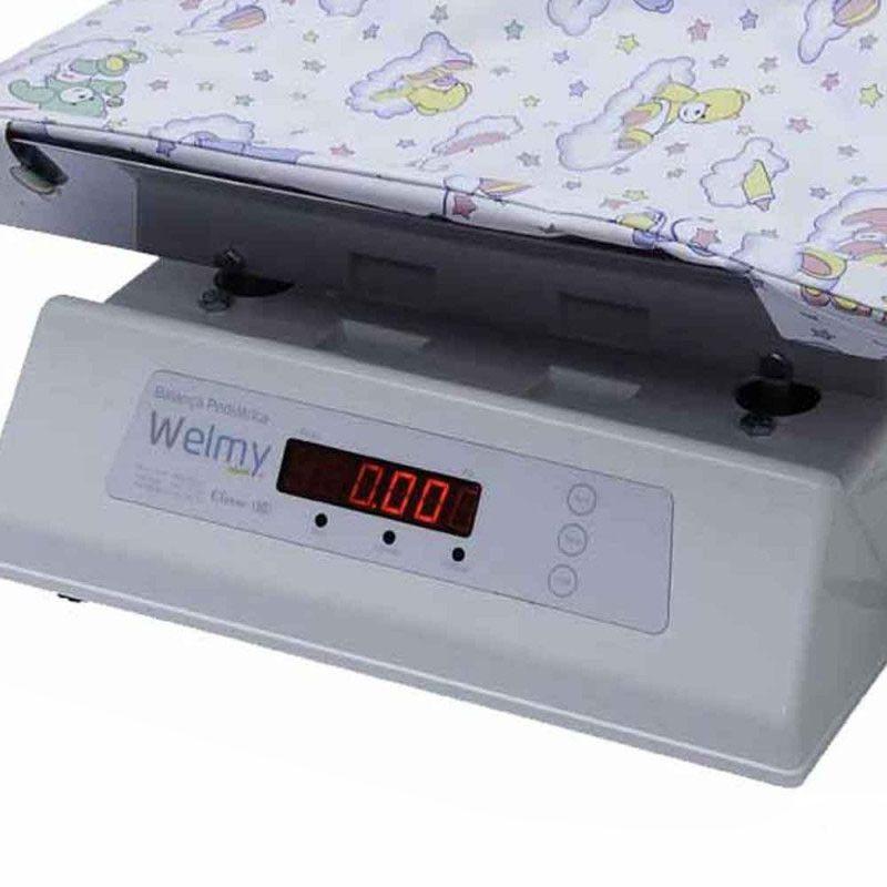 Balança Digital Pediátrica Com Conha em Inóx 109-E Inóx  - Welmy