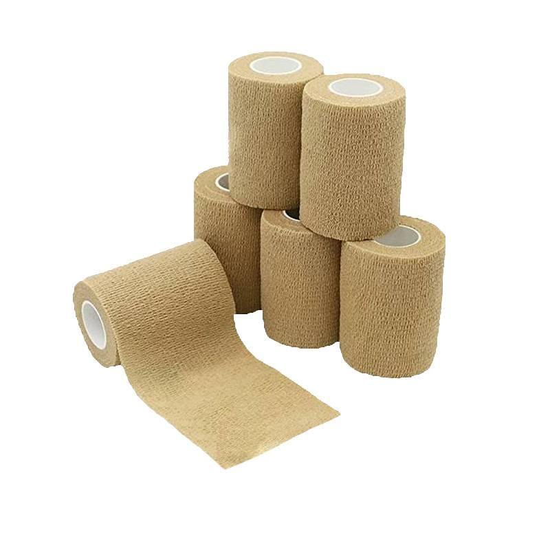 Bandagem Coesiva Auto Aderente Bege (Similar Coban) - Bioland