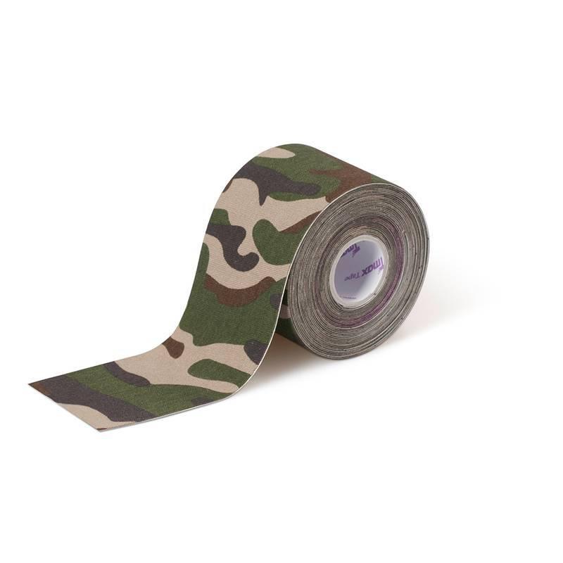Bandagem Funcional Elástica Crosstape kinesio 5 cm X 5 m Verde Camuflado - Tmax