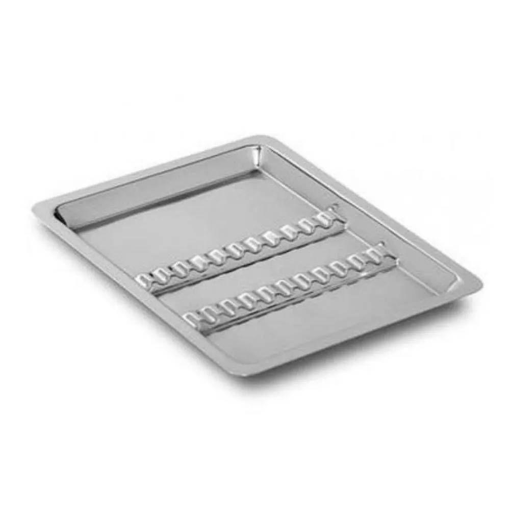 Bandeja Inox Odontológica 22 x 17 x 1,5 cm C/12 Divisões