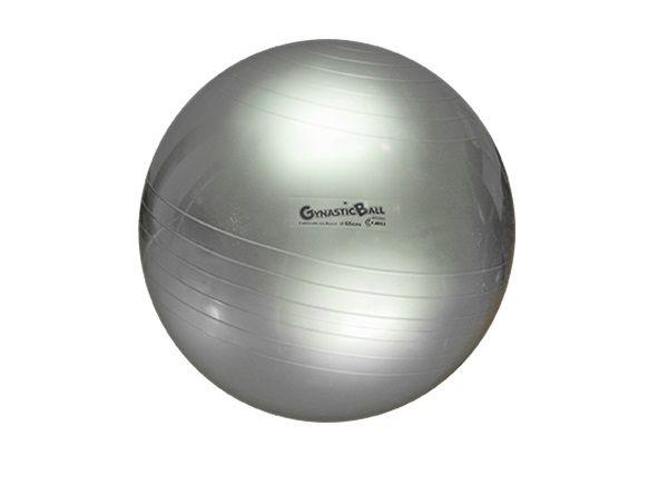 Bola Suíça para Exercícios e Pilates Gynastic Ball 65 cm Prata Ref. BL.01.65 - Carci