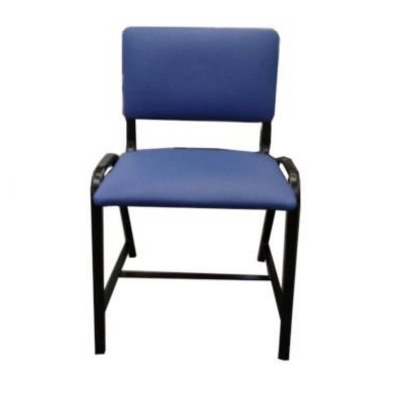 Cadeira de Aço Com Assento e Encosto Estofados Obeso Até 150 Kg. - SLT