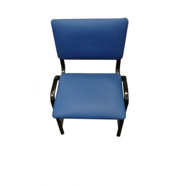 Cadeira de Aço Com Assento e Encosto Estofados - SLT