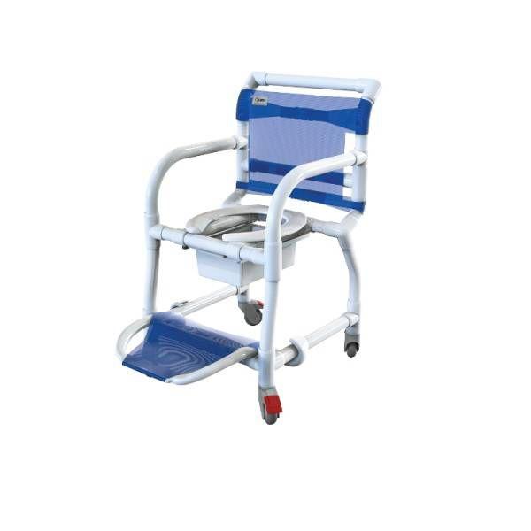 Cadeira de Banho e Higiênica em PVC com Braços Escamoteáveis Carcilife 310CL - Carci
