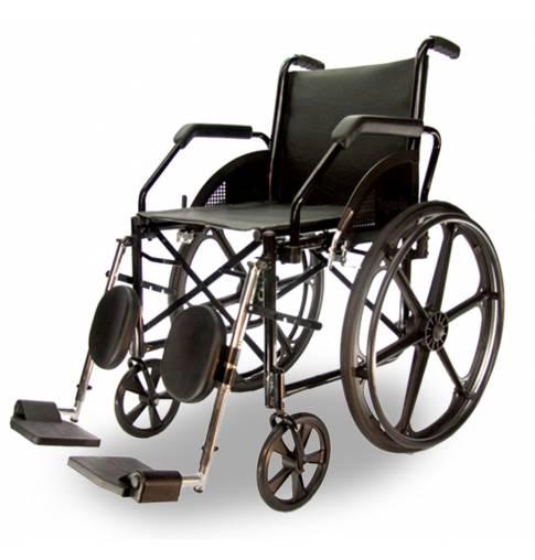 Cadeira De Rodas Dobrável Epoxi Pneus Maciços Com Apoio Para Panturrilha 1016 - Baxmann Jaguaribe