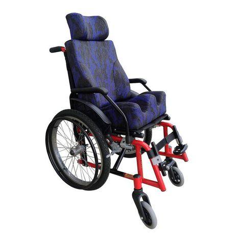 """Cadeira De Rodas Infantil Alumínio Mod."""" Solzinho"""" Azul C/ Módulo De Almofadas"""