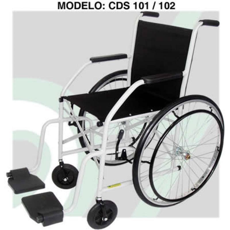 Cadeira De Rodas Semi-Obeso Pneu Maciço Cor Preto - CDS101-S