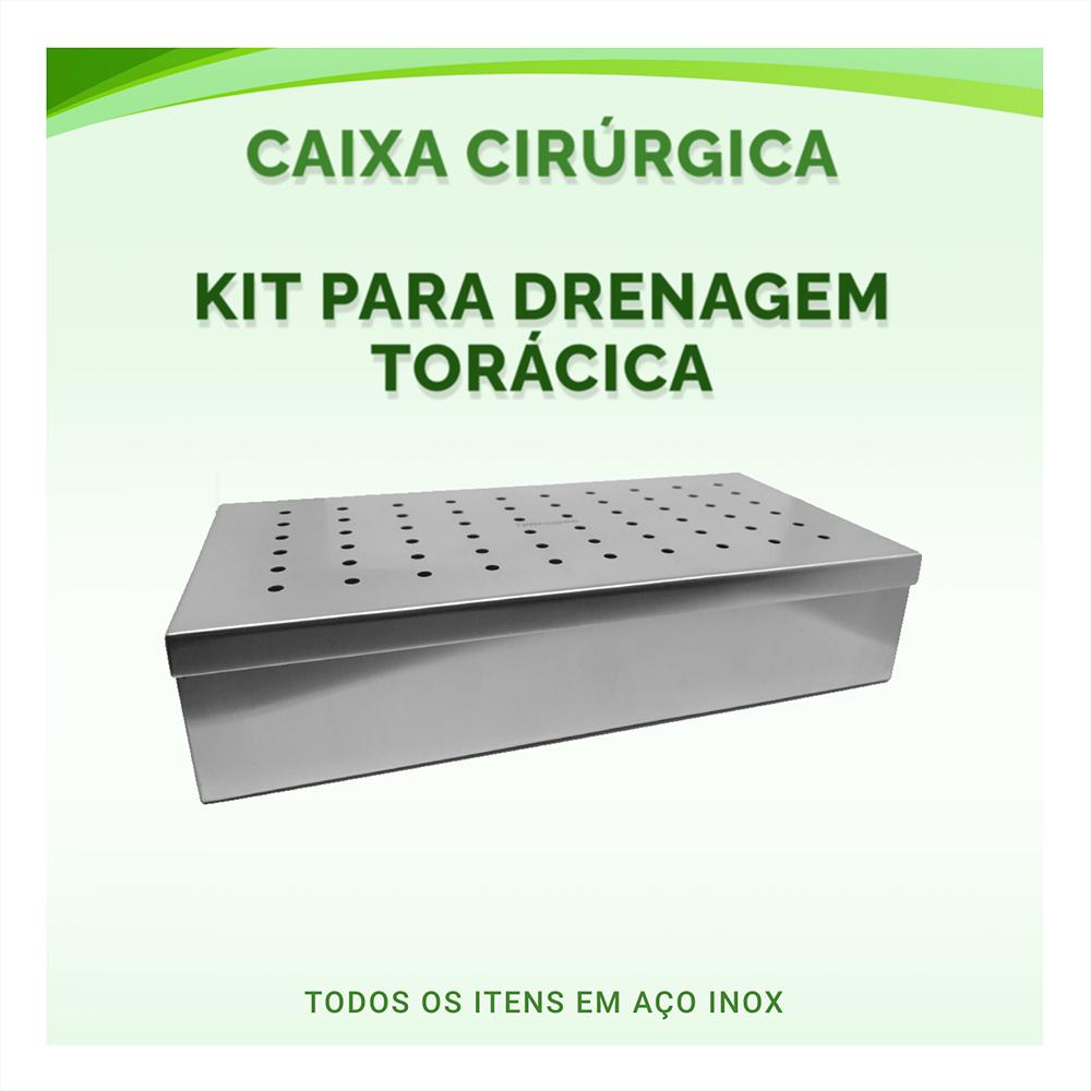 Caixa Cirúrgica Kit Para Drenagem Torácica - ABC