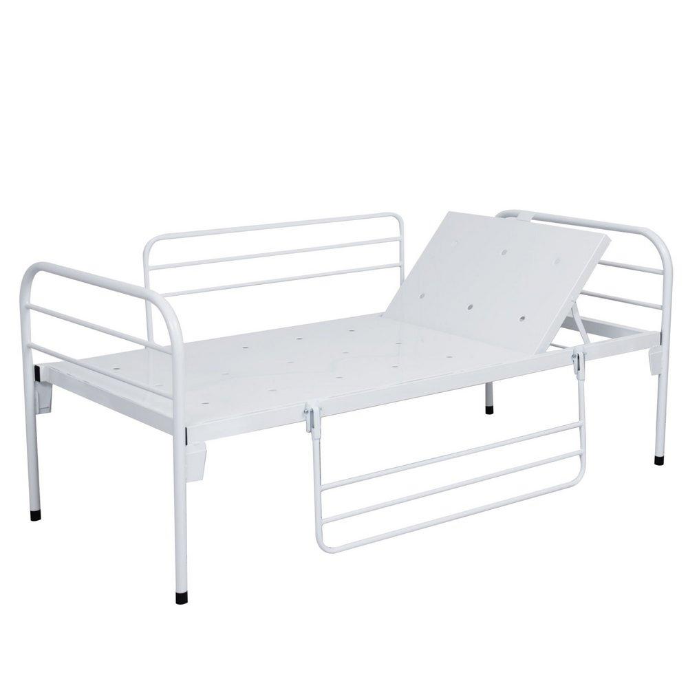 Cama Hospitalar Com Cabeceira e Grades Móveis Por Manivela - SLT