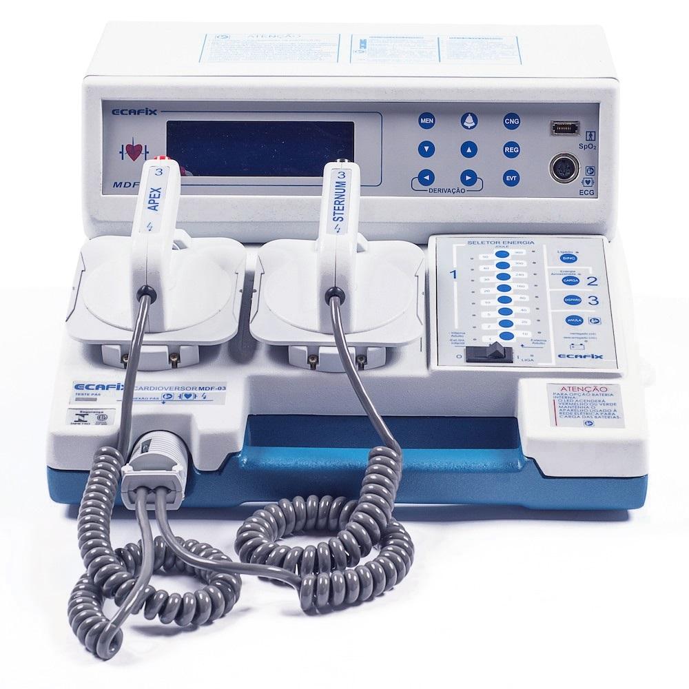 Cardioversor Com Bateria Recarregável, Oximetria e Impressora MDF-03BSI - Ecafix Funbec
