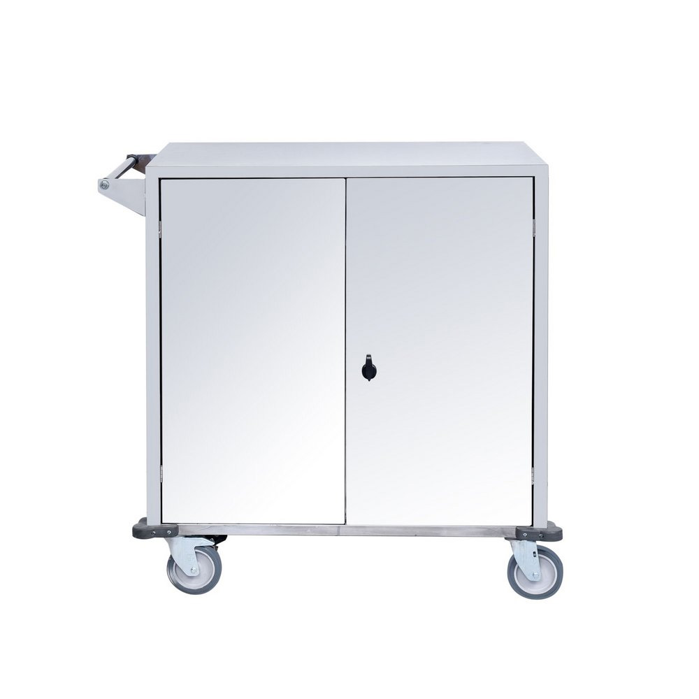 Carro de Transporte Inox Fechado Para Material / Roupa - SLT