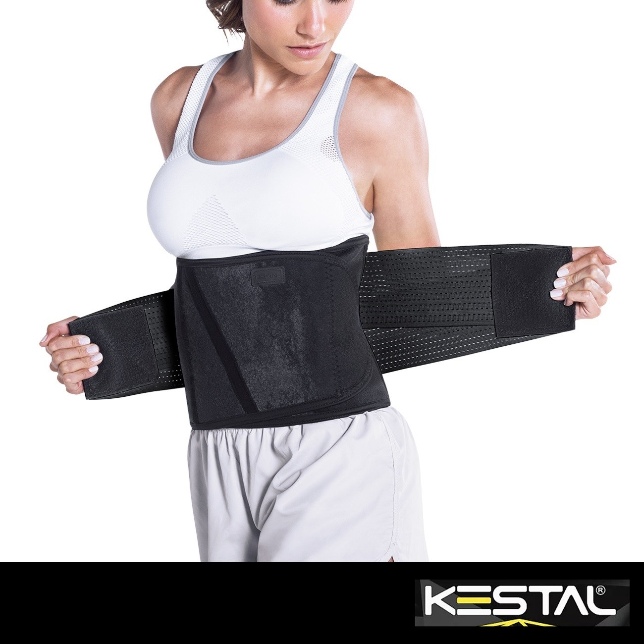 Cinta Modeladora Ajustável Preta (KSN062) - Kestal