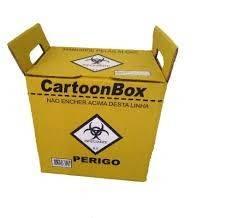 Coletor de Materiais Perfurocortantes Cartonbox 20 Litros Caixa com 10 unidades