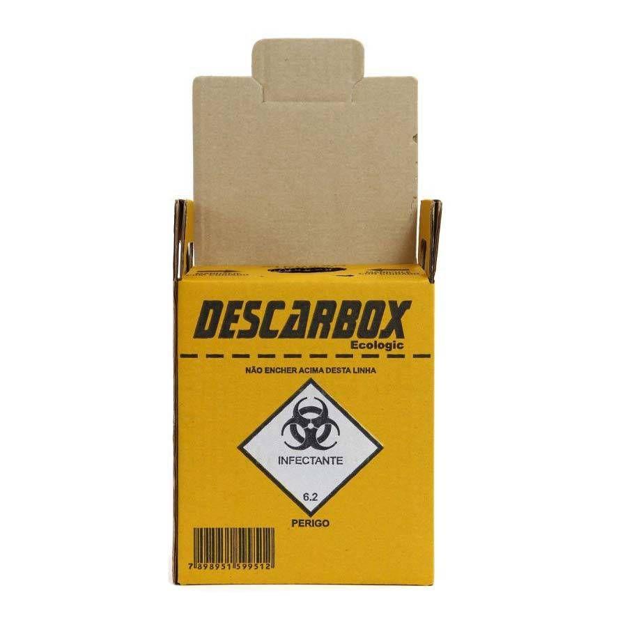 Coletor de Perfurocortante 13 Litros C/ 10 Unid. - Descarbox