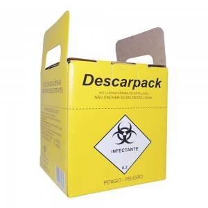 Coletor de Perfurocortante 7L Com 10 Unidades Descarbox