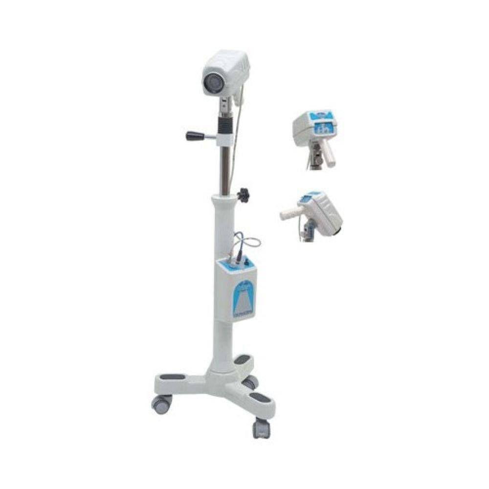 Colposcópio Binocular Aumento Fixo 16 X LED Rodizios Terceira Ocular Câmera de Vídeo PE7000FRDC  - Cirurgica Passos