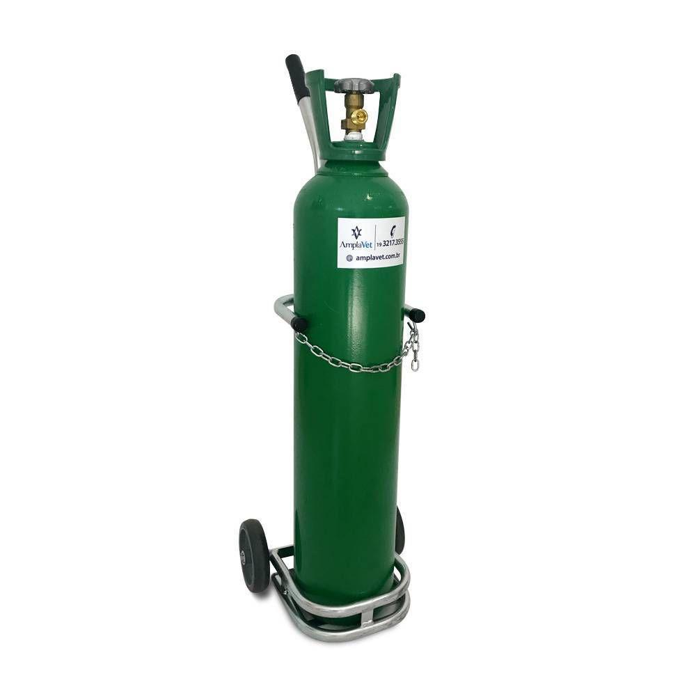 Conjunto de Oxigênio 3Lt Portátil Com Carrinho Unitec