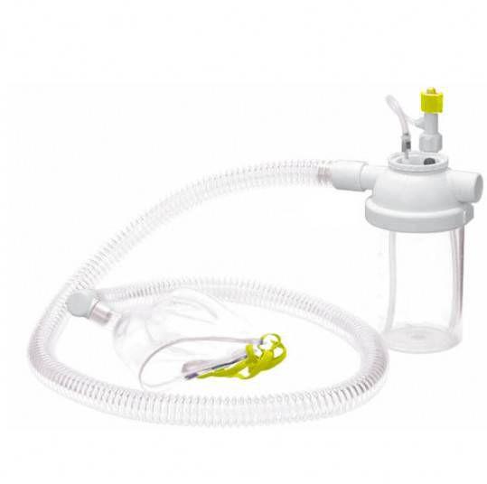 Conjunto Nebulização Contínua adulto Ar Comprimido 500 ml Traquéia silicone NF321 - Unitec