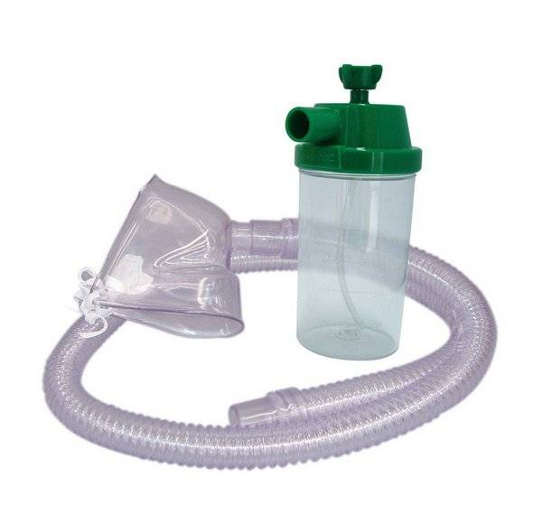 Conjunto nebulização Contínua Oxigênio Infantil 500ml Traquéia PVC NF112 - Unitec
