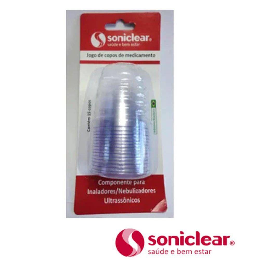 Copinho de Medicamento P/ Inalador C/ 15 Unid. 6025M - Soniclear