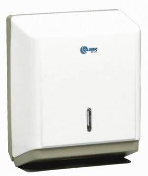 Dispenser para Papel Toalha Toalheiro Interfolhas 2/3 Dob. Branco PT1000 - Columbus