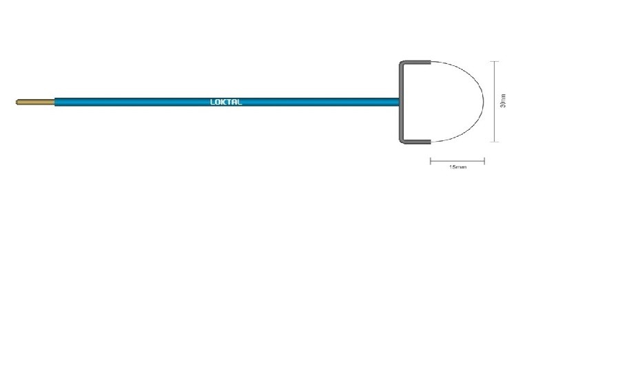Eletrodo Cirúrgico Alça Redonda - 30mm x 15mm ACEL0037 Wavetronic