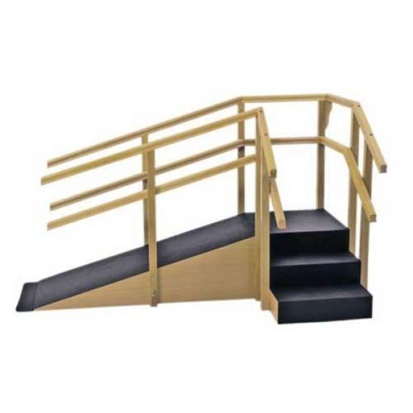 Escada de Canto com Rampa e Corrimãos Duplos 1015 - Carci