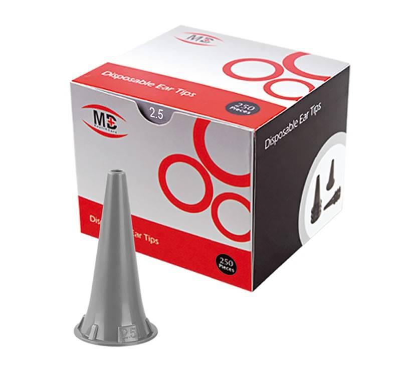 Espéculo Auricular Descartável 4,0 mm Para Otoscópio Omni 3000 C/ 250 Unidades - MD