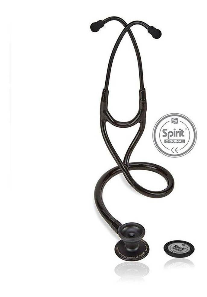 Estetoscópio Cardiológico Adulto Black Finish 101069 - Spirit  - Cirurgica Passos