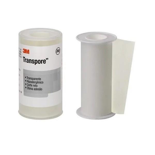 Fita Médica Hipoalergênica Transparente Transpore 100 mm X 4,5 m - 3M