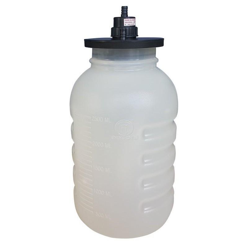 Frasco de Aspiração em PVC/ Tampa P/ Aspirador e Lipoaspirador 3,25L - Nevoni