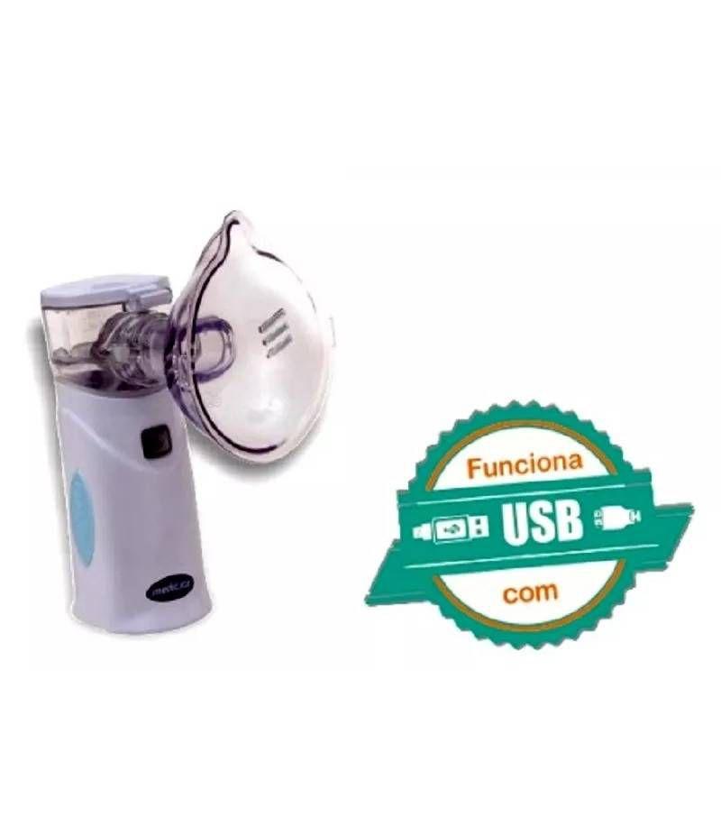 Inalador Portátil Rede Vibratória Com Fonte MD 4500 - Medicate