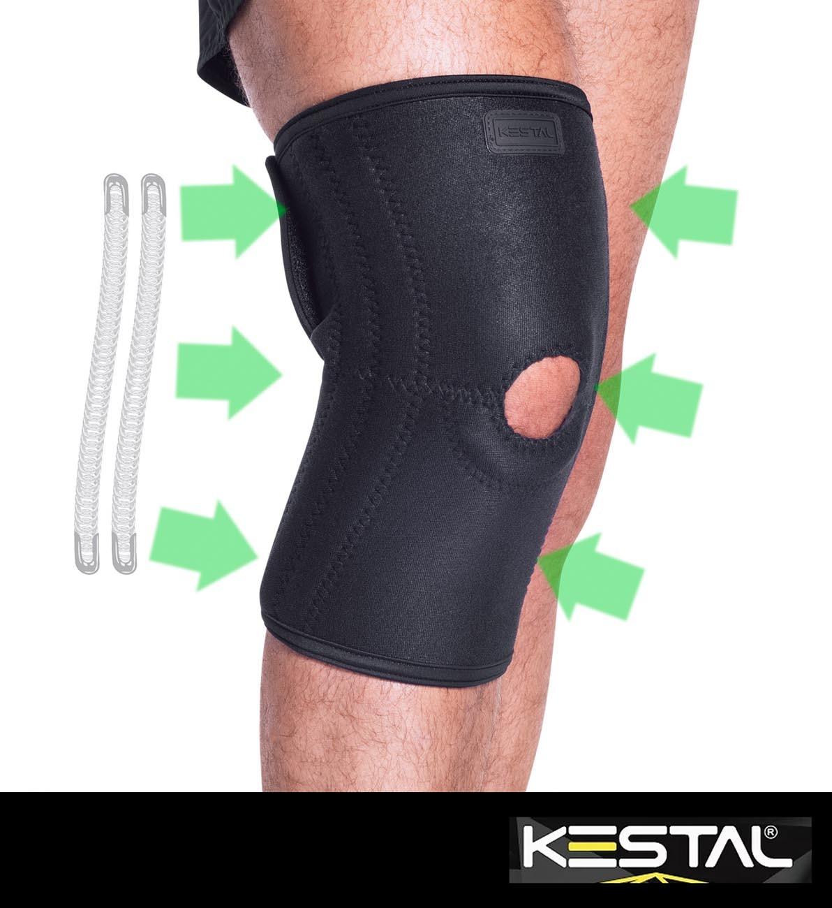 Joelheira Ajustável Com Hastes de Aço Flexível (KSN005) - Kestal