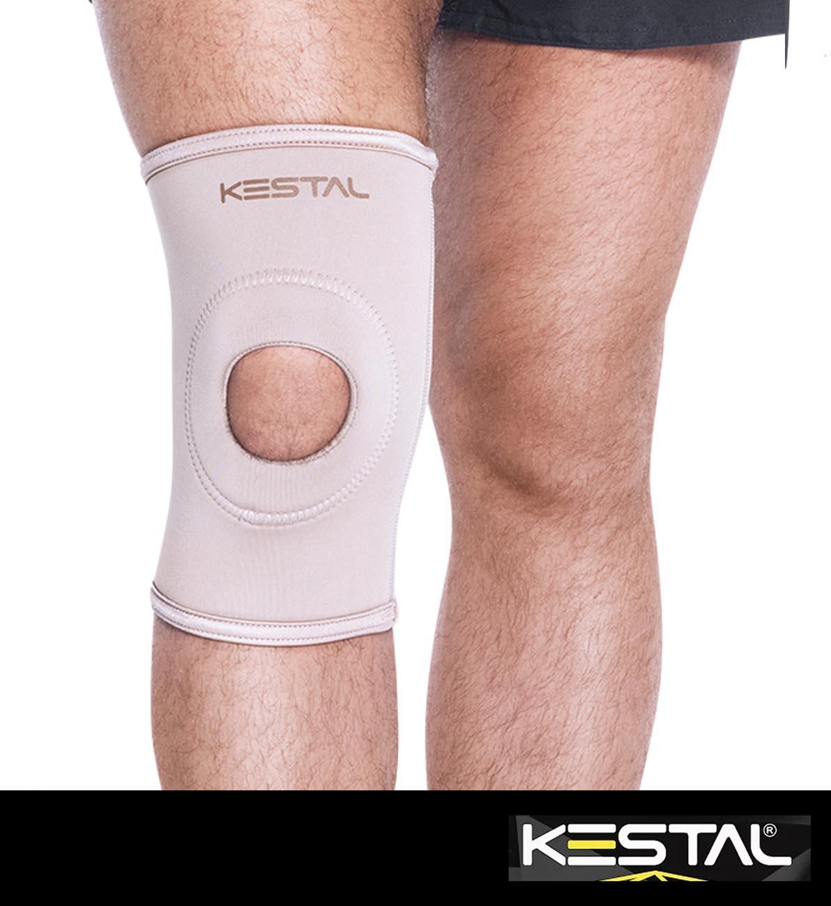 Joelheira Elástica Com Orifício e Reforço Patelar (KSN002) - Kestal
