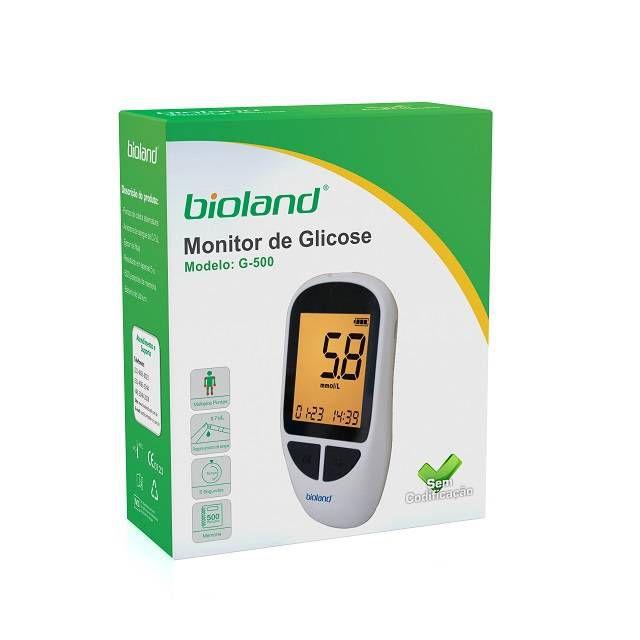 Kit Medidor de Glicose Com 25 Tiras G500 - Bioland
