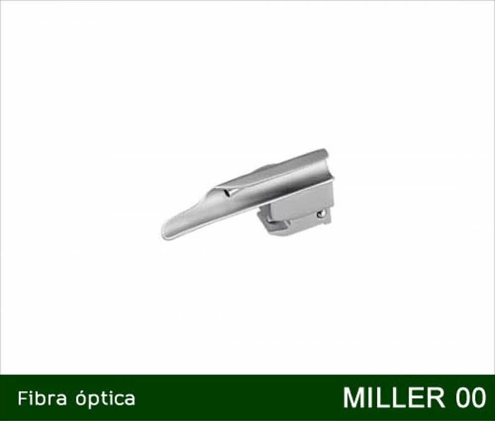 Lâmina Para Laringoscópio Fibra Óptica e LED Miller Reta Nº 00 - MD