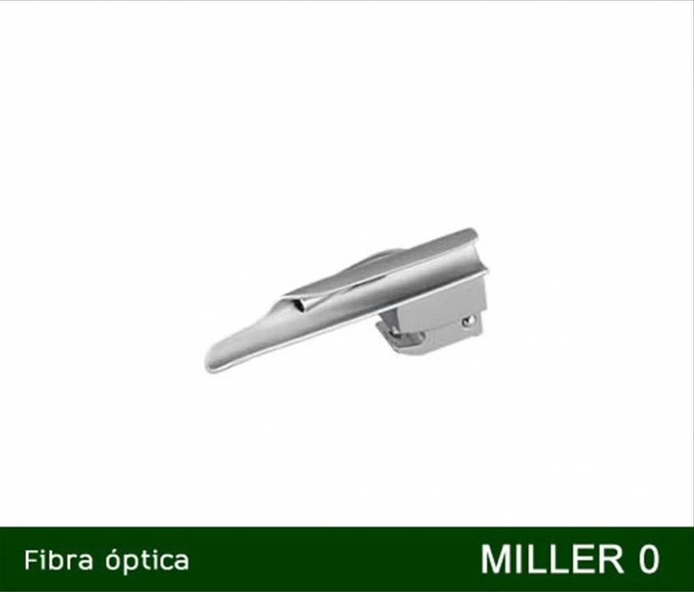 Lâmina Para Laringoscópio Fibra Óptica e LED Miller Reta Nº 0 - MD