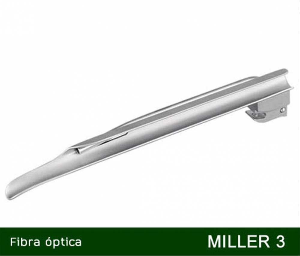 Lâmina Para Laringoscópio Fibra Óptica e LED Miller Reta Nº 3 - MD