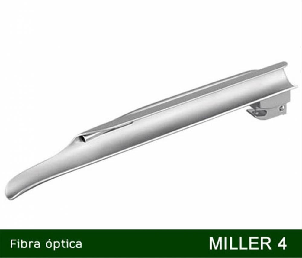 Lâmina Para Laringoscópio Fibra Óptica e LED Miller Reta Nº 4 - MD