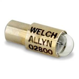Lâmpada Halógena 2,5V Ref. 02800 P/ Oftalmoscópio Branco Klinik Mod. 19090 - Welch Allyn