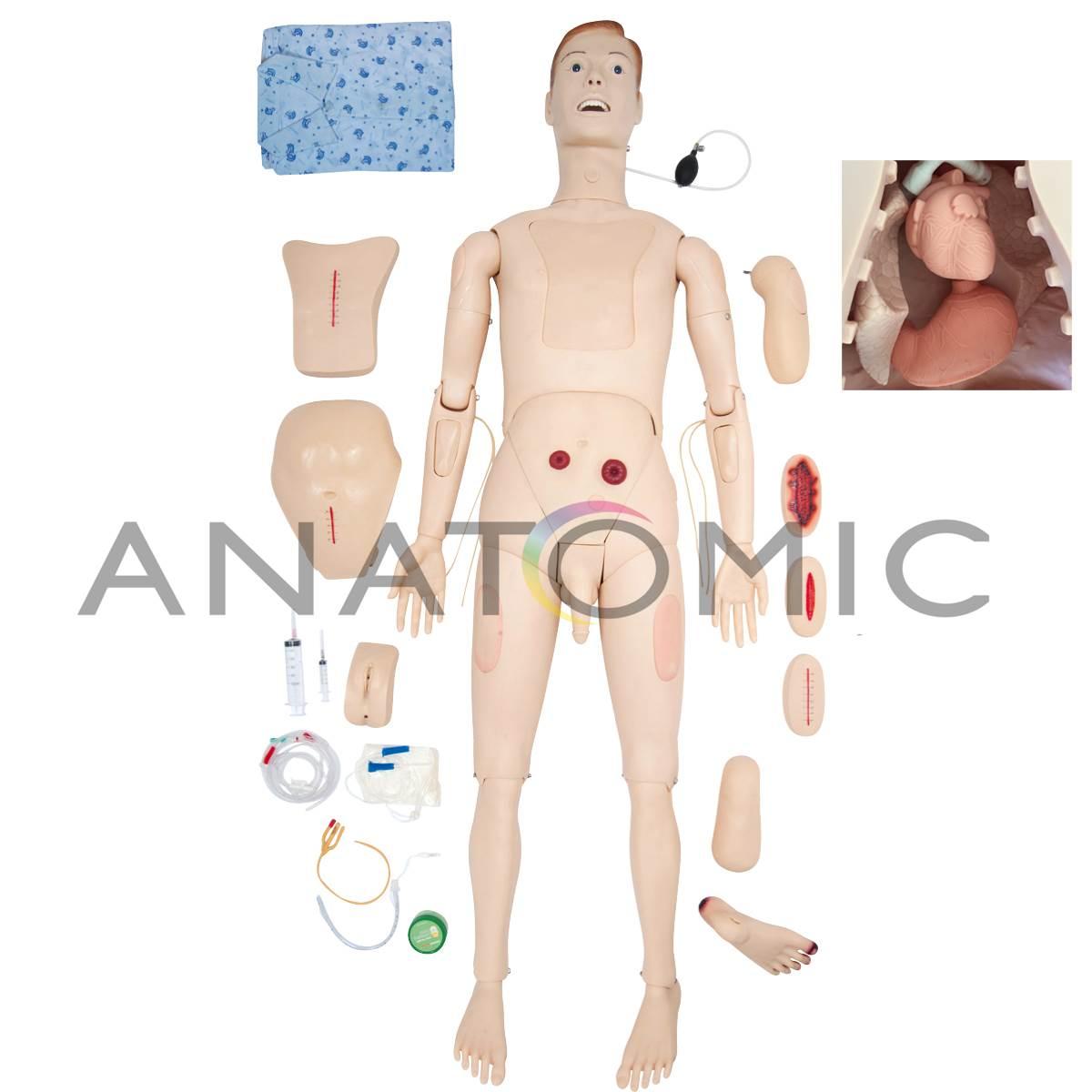 Manequim Bissexual c/orgaos internos adulto P/ Treinamento Enfermagem Avançado  TZJ0502-A Anatomic