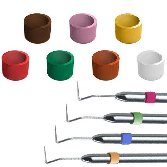 Marcador de Instrumentais Redondo Silicone P/ Identificação e Marcação C/ 200 Unid. - Fabinject